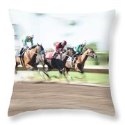 Day At The Races Throw Pillow