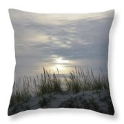 Day Fades Behind The Dunes Throw Pillow