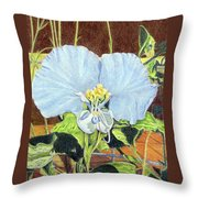 Day Flower Throw Pillow