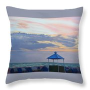 Day Is Done Throw Pillow by Lea Novak