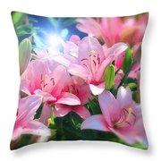 Day Light Lilies Throw Pillow