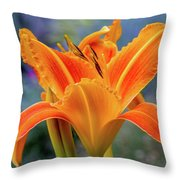 Day Lily Bright Throw Pillow