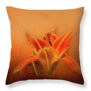Day Lily Emerging Throw Pillow