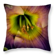 Day Lily In Purple Throw Pillow