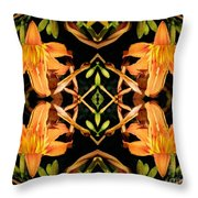 Day Lily Square Dance Throw Pillow