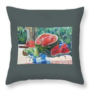 Day Of A Water-melon Throw Pillow