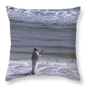 Day Of Ocean Fishing Throw Pillow