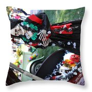 Day Of The Dead Car Trunk Skeleton  Throw Pillow