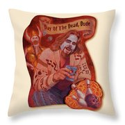 Day Of The Dead Dude Throw Pillow
