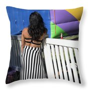 Day Of The Dead End Of Day  Throw Pillow