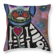 Day Of The Dead Hudson Throw Pillow