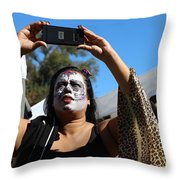 Day Of The Dead Iphone Woman Throw Pillow