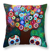 Day Of The Dead Love Offering Throw Pillow