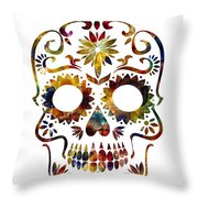 Day Of The Dead Throw Pillow by Michael Colgate