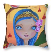 Day Of The Dead Princess Throw Pillow