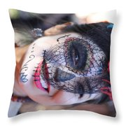 Day Of The Dead Woman I Throw Pillow