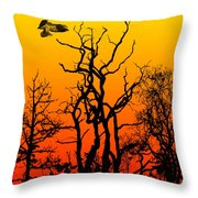 Day Of The Eagle Throw Pillow