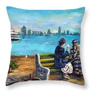 Day Off At The Island Throw Pillow