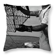 Day On The Water Throw Pillow
