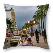 Day Time Maleconmexico  Throw Pillow