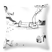 Day Trippin' 1 And 2 Throw Pillow