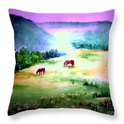 Daybreak And Clover Throw Pillow