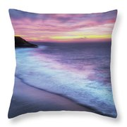 Daybreak At Caswell Bay Throw Pillow