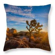 Daybreak At Joshua Throw Pillow