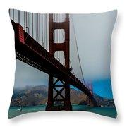 Daybreak At The Golden Gate Throw Pillow