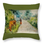 Daybreak In Kerala Throw Pillow