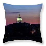 Daybreak In Madison Wi Throw Pillow