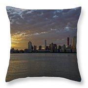 Daybreak In Manahattan Throw Pillow
