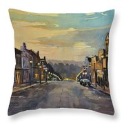 Daybreak In Mineral Point Throw Pillow