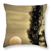 Daybreak On A Country Road Throw Pillow