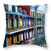 Daybreak On St. Ann Street Throw Pillow
