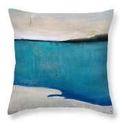 Daybreak On The Beach Throw Pillow