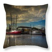 Daybreak On The Captain Jack Throw Pillow