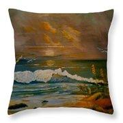 Daybreak On The Dunes Throw Pillow