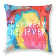 Daydream Believer- Abstract Art By Linda Woods Throw Pillow