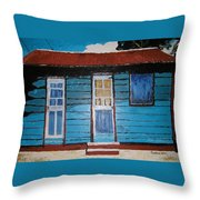Daydreaming Blues Throw Pillow