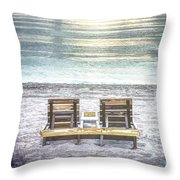Daydreaming By The Sea In Watercolors Throw Pillow