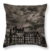 Daydreams Darken Into Nightmares Throw Pillow