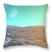Daylight In The Desert Throw Pillow