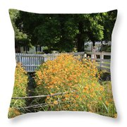 Daylilies In The Spring Throw Pillow