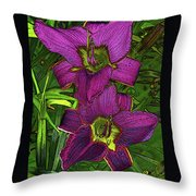 Daylillys 2 Throw Pillow