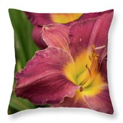 Daylily 2 Throw Pillow