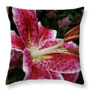 Daylily Dance Throw Pillow