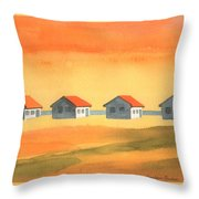 Days Cottages Throw Pillow