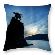 Day's End At Siwash Rock Throw Pillow
