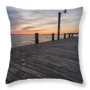 Days End Dock Throw Pillow